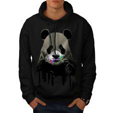 Wellcoda Cute Panda Sweets Animal Mens Hoodie, Wild Casual Hooded Sweatshirt