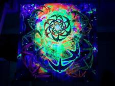 Psychedelic Tapestry UV Mandala Blacklight Esoteric Spiritual Trippy Backdrop