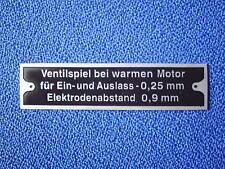 targa ì per BMW scudo piastra 501 502 503 507 3200 V8 V 8 Gioco valvole Motore