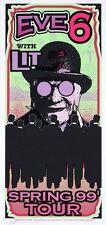 Eve 6 Concert Tour Handbill Lit Artist Mark Arminski Purple
