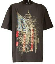 Homme grande taille créateur vintage usa flag skull tee shirt anthracite 3XL 4XL 5XL 6XL