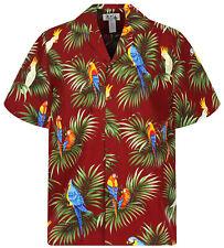 KY`s Original Hawaiihemd, Papagei Allover, rot, S-6XL