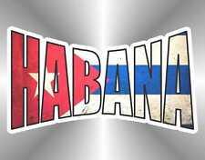 adesivo bandiera havana Habana Cuba flag sticker autocollant pegatina aufkleber