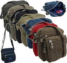 Umhängetasche Damen Tasche Crossover Bag Schultertasche Nylon Crinkle Neu 2225