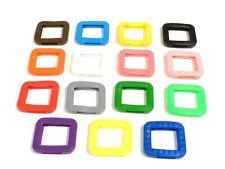 Rema - Schlüsselkennringe - Schlüsselkappen - eckig - farblich sortiert - 8007