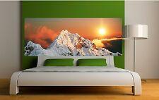 Carta dipinto testata del letto Sole su montagna 3624 Art déco Adesivi