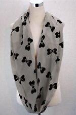 Womens Bow Print Scarf Bow Tie Cute Soft Neck Shawl Wrap Elegant
