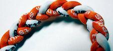 "NEW! 20"" Titanium Sport Necklace Orange White Ionic Tornado Baseball Football"