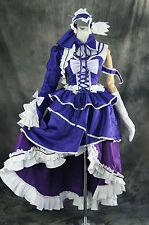 H-050 M/L/XL/XXL VOCALOID MIKU lila Cosplay Kostüm Set costume dress Kleid