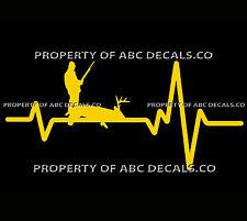 VRS Heart Beat Line HUNTING HUNTER Rifle Gun Ammo Buck Deer Shot CAR VINYL