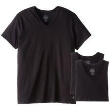 Calvin Klein CK Underwear Men Basic Tee 3-Pack Classic Fit V-neck T-shirts Black