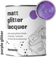 Hemway Purple Glitter Matt Varnish Lacquer Protective Indoors Outdoors
