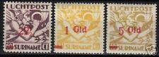 Surinam 1945 NVPH Airmail 24-26 MLH  VF