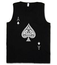 ACE OF SPADES II TANK TOP Spade Ace Poker Card Casino Karte Royal Flush Pik As