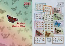 Rumänien 2011 Schmetterlinge,Falter,Butterfly Mi.6509-14,Zf.,KB,Block 498,FDC