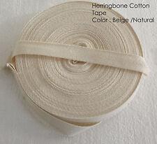 10mm Beige 100% Bandierine Di Cotone Grembiule Herringbone Twill Nastro Tessuto