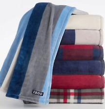 Izod Plush Throw Blanket in Various design patterns