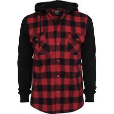 Urban Classics - HOODED Flanell Shirt rot
