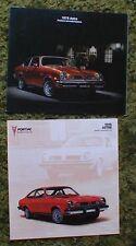 1975 1976 Pontiac  Astre Sales Brochure Lot 2pcs