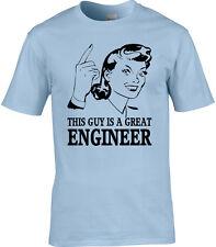 Ingeniero Hombre Camiseta Idea Regalo ocupación CIVIL producto químico mecánico