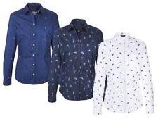 (Bz) Donna Businessbluse Camicia Aderente Camicetta da Damenhemd Nuovo
