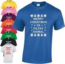 Merry Christmas Filthy ANIMAL ENFANTS T-shirt Noël de compagnie jeunes cadeau