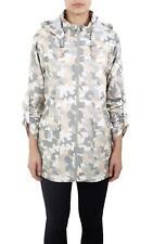 Ladies Blushing Camouflage Design Festival Fishtail Hooded Mac Raincoat Jackets
