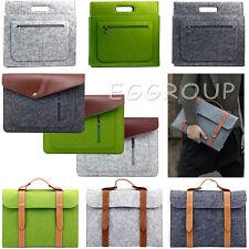 For Apple Mac MacBook Air Pro 11/12/13/15 Wool Felt Sleeve Laptop Case Cover Bag