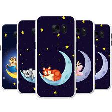 Feliz en la Luna con las estrellas Snap-On estuche rígido cubierta teléfono para teléfonos HTC