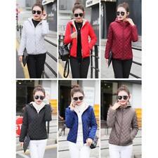 Warm Women Hooded Collar Coat Jacket Down Cotton Short Winter Parka Outwear B