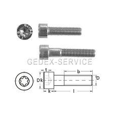 Zylinderschrauben TORX ISO 14579 M8 in Längen 12 bis 80 mm Edelstahl A2 GEDEX