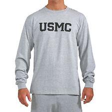 "USMC ""Repel"" Performance Long Sleeve Shirt in Grey"