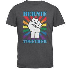 Election Bernie Sanders Together Raised Fist LGBT Dark Heather Adult T-Shirt