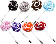 Feltro 2 Toni Piccolo Artigianale Spilla da Bavero per Bianco Fiori Rose Tessuto