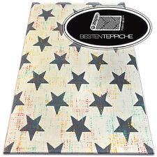 Modern Teppich CANVAS SCANDI Balta Flachflor Dicht Gewebtem Stern creme scandic
