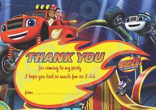 Blaze et le monstre machines merci cartes enfants Anniversaire Pack De 10