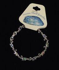 Brontosaurus Abalone Shell Inlayed Charm Bracelet 7 1/2 in