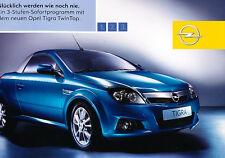 2004 2005 Opel Tigra Twin Top Cabrio Sales Brochure German