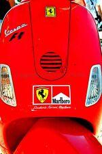 Vespa Piaggio Scooter Ferrari Logo 24Hours of Le Mans photo picture poster print
