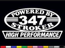 2 HIGH PERFORMANCE 347 STROKER DECALS HP 5.0 302 V8 GT ENGINE EMBLEM STICKERS