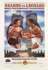 Vintage 1981 Thomas Hit Man Hearns Sugar Ray Leonard Boxing Poster A3 Print