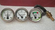Minneapolis Moline Temp, Oil Pr, Ampere Gauge Set- G,R,U,Z,335,400,445, 500, 600