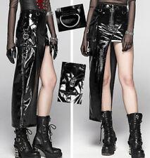 Jupe zippé asymétrique vinyle gothique punk lolita cyber guerrière sexy PunkRave