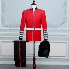 British Mens Uniform Royal Guard Soldier Costume Fancy Dress Grenadier Jacket