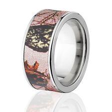 Camo Rings, Womens Camo Wedding Bands, Licensed Mossy Oak Pink Break Up Rings