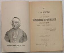 1886 MEMOIRE PAUL GEORGES MARIE DU PONT DES LOGES METZ