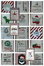 18 designs of Christmas Santa Sacks with drawstring