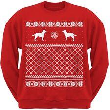 Chocolate Labrador Retriever Red Adult Ugly Christmas Sweater Sweatshirt