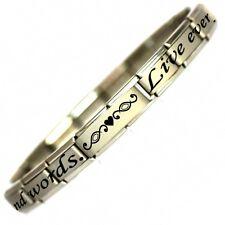 LIVE LOVE LAUGH Verse Charm Bracelet - Daisy charm by JSC - Birthday Gift