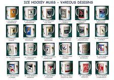 ICE HOCKEY.BRITISH RETRO PROGRAMME MUGS.24 DESIGNS.VINTAGE UK PROGRAMMES.NEW.BNI